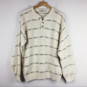 Vintage oversized boyfriend sweater cotton knit